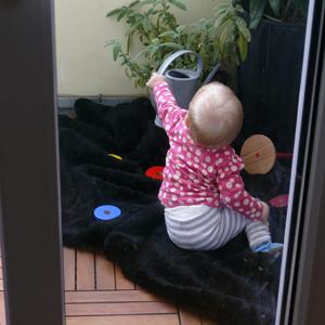 Luise gießt
